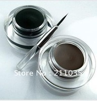 Hot Sale wholesale Danni Professional makeup eyeliner cream,waterproof eyeliner gel with brush 5g black/brown color,R93
