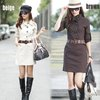 freeshipping New arrival women's 2013 spring stretch cotton slim autumn and winter long-sleeve dress