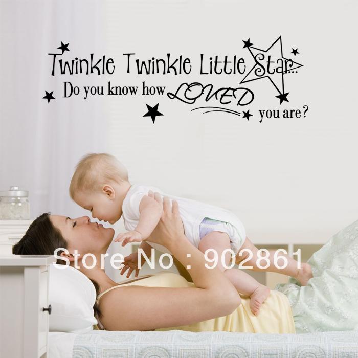 funlife] 80x26cm(31.5x10in) Twinkle Twinke Little Star Nursery ...
