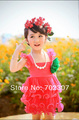 2013 Free Shipping Girls dresses Pleated tennis dress belt girls clothes many color cc-2222  9 colors