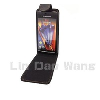 Black Synthetic Leather Case Cover Pouch For SONY ERICSSON X12 XPERIA ARC S LT18i LT15i