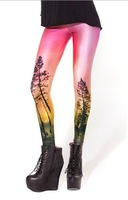 East Knitting BL-115 2013 New fashion Clothing Galaxy AURORA SKYE ORANGE LEGGINGS Black milk brand pants Hot free shipping