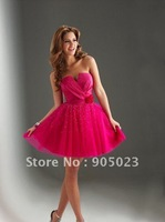 wholesales 2012 cheap strapless Taffeta knee length dress