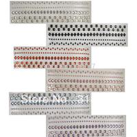 Free shipping Wholesale mix color rhinestone sticker(6pcs/Lot) 022003006