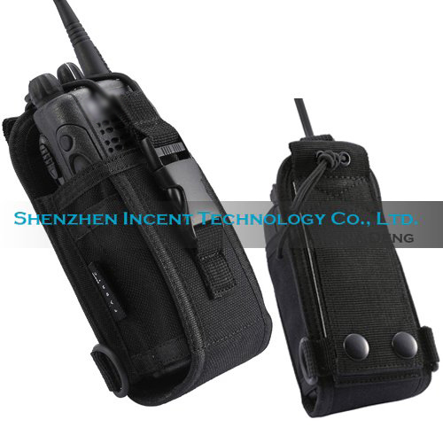 Free shipping 10 pcs Nylon Carrying Case For Two Way Radio With Metal Belt Clip(China (Mainland))