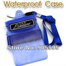 Free shipping  Phone waterproof bag Fishfine waterproof case cellphone holder 14*11CM  PVC Retail or Wholesale L15-2-9