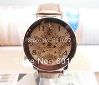 Star Wholesale women wristwatches ladies fashion leather strap quartz watch rhinestone Women dress watches 126A