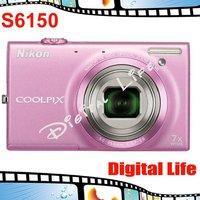 COOLPIX S6150 Original Nikon COOLPIX S6150 7x Optical Zoom,4x Digital Zoom,16MP Sensor Resolution Digital Camare Free Shipping