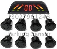 Guaranteed 100% Reverse Radar New Intelligent Double LED Digits Parking Sensor with 8 Sensors + 2011 New Arrival