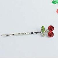Fashion Cute Cherry Silver Hairpins Hair Accessories A8R21