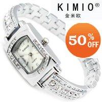 Holiday sale   K138-3 Fashion Kimio Brand Watch Top Quality Stainless Steel Crystal Watch women woman ladies quartz watch