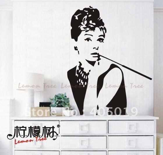 Audrey noir achetez des lots petit prix audrey noir en for Audrey hepburn mural