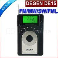 DEGEN DE15 FM Stereo MW SW FML LCD Radio World Band Receiver Alarm Quarz Clock A0902A eshow