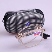 Free shipping Folding glasses metal optical glass SG069