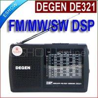 DEGEN DE321 FM Stereo MW SW Radio DSP World Band Receiver A0905A eshow