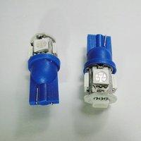 Wholesale Freeship Blue T10 SMD5050 5 LED Car Light Interior Lamp Automobile Bulbs Car Wedge Indicator Light
