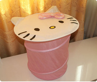 Hello Kitty folding storage basket, sundries canister,Receive basket