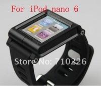 1pcs/lot, Aluminum Watch Band Wrist Strap Bracelet Cover Case for iPod Nano 6 6th 6