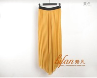 Free shipping 2012 quality summer female fashion bohemia expansion skirt chiffon half-length full dress pleated skirt fairy