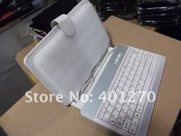 10pcs USB PU Leather Case Keyboard with touch pen stylus for Epad Apad Notbook Tablet PC 7inch