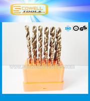 1mm-10mm  19PCS/box HSS Cobalt M35 Twist drill bits sets,HCO Professional Jobber Drill,Twist Drill Bits,Electric Drill bit sets