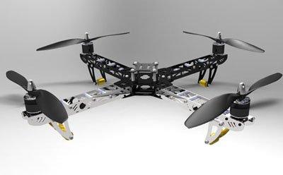 ST450 Four-rotor Aircraft/ Quadcopter (Folding design) Kit W/4 Motors(Hong Kong)