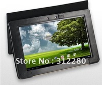 Leather Keyboard Case Cover Bag for Asus Eee Pad TF101 Tablet Triple Fold Black brown free shipping 10pcs/lot