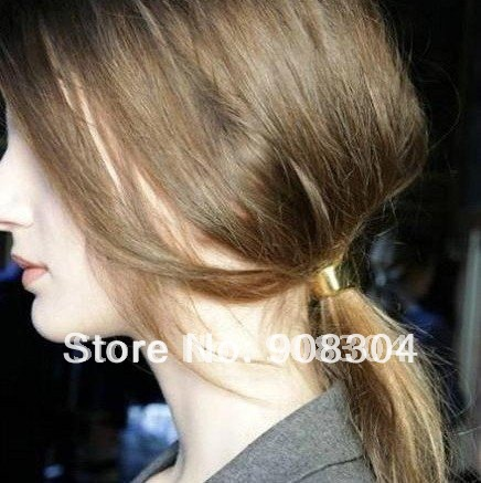Korean temperament wild metal the texture of the cylinder ring hair band Free shipping hair jewelry crystal swinky hair(China (Mainland))