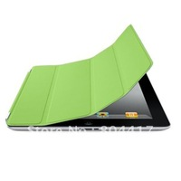 Promotion Sale!!!  Free Shipping New Fashion 1Pcs Magnetic Slim PU Smart Cover Case for the new ipad 2/ ipad 3 Green