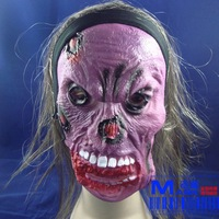 FREE SHIPPING!!!Wholesale each type of toys, masks, Halloween masks, masquerade party props, terrorist mask with hair,10 piece
