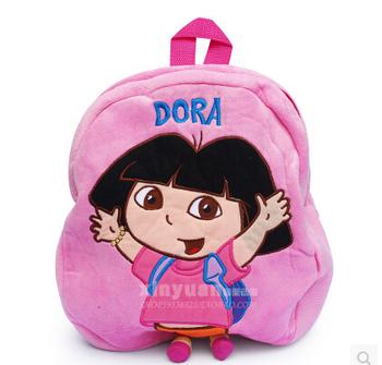 Retail 1PCS Soft Lovely Dora Plush Shoulder Bag 26x30cm Dora the Explorer Dora Backpack Child Rre School Bag New