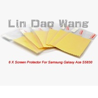 6 X New Anti-Scratch LCD Screen Protector Film For SAMSUNG GALAXY ACE S5830