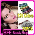 NEW 120 Full Color Eye Shadow Eyeshadow Makeup Palette And 20 PCS Multi-Functional Makeup Brushes with Free Case Free Shipping