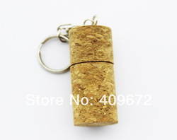 retail genuine 2G/4G/8G/16G/32G usb flash memory stick usb flash drive red wine wooden cork Free shipping+Drop shipping(China (Mainland))