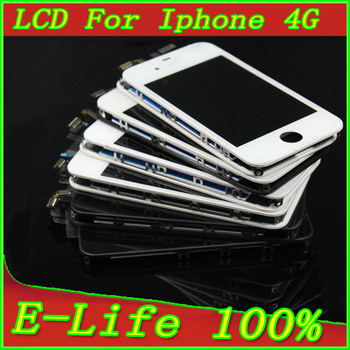 Original LCD Display +Touch Screen Digitizer for iPhone 4 4G ,white and black,100% new and Quality Assurance Free Shipping