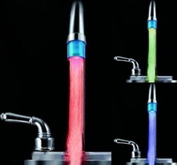 Enjoy the Colorful Life (No battery) LED Faucet Light According to Water Change RGB Jump Colors