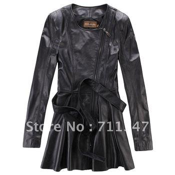 women's 2012 100% genuine leather jacket  ex-9928