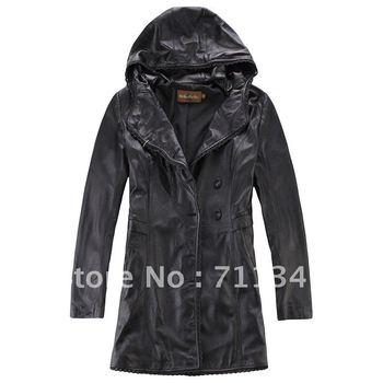 women's 2012 100% genuine leather jacket  ex-1178