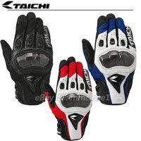 RS TAICHI Motorcycle Motorbike Riding Racing Cycling Armed Mesh mens gloves  BLACK BLUE M L XL