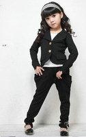 New Girls chic suit +pants - Kids GIRLs sweat suit jogging sets,4sets/lot