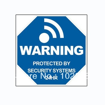 Alarm Warning Sticker Decal for Home Security Burglar Alarm System AT-WS01