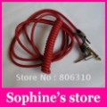 Free shipping red cable for pro headphone ,black cable for detox headphone,3.5mm headphone wire cable