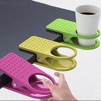 Free shipping 3pcs/Lot drinklip portable  Desk Cup Holder Novelty households