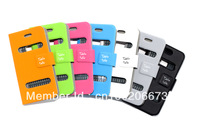 Free shipping NEW DESIGN Table talk Flip case for iPhone 4 4s, Leather Pouch Slim Case Skin Cover for iPhone