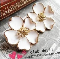 Free Shipping 3pairs/Lot Fashion Cute Jasmine Flower Earring For Lady Girl Z-M5032
