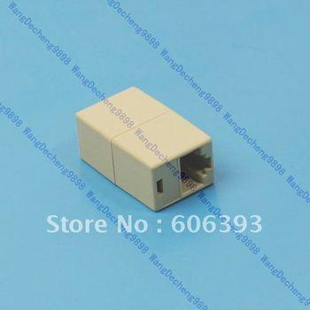 C18Free Shipping 50 Pcs/Lot RJ45 CAT5 CAT5E Network Ethernet Modular Plug Connector Adapter New