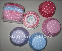 wholesale-free shipping 1000pcs/lot food grade paper cupcake cases baking tool cake cup muffin cases,mix colors