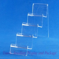 Free Shipping 3 Clear View Wallet Display Stand Holder 4 Tiers 120330WS-05