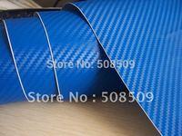 Blue Backside 3d Carbon Fiber Vinyl Wrap With Air Free Bubbles  PVC Material Free Shipping