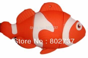 gold fish usb flash drives, usb disk fish pendrive